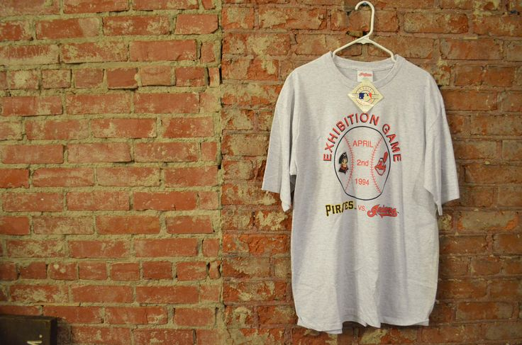 NEW WITH TAGS! Vintage 1994 Cleveland Indians vs Pittsburgh Pirates Baseball Unisex T-Shirt! by ThriftsNKicks on Etsy