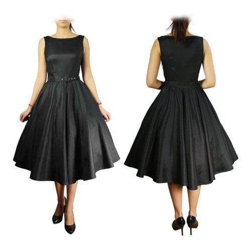 Black Butterfly Classy Audrey Vintage Black 1950's Rockabilly Swing Evening Dress (16, Black) Black Butterfly Clothing, http://www.amazon.co.uk/dp/B00A2X0LAO/ref=cm_sw_r_pi_dp_9qMFrb09VCH35