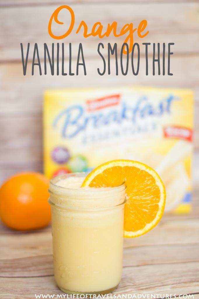 Orange Vanilla Smoothie #BreakfastEssentials #PMedia #ad