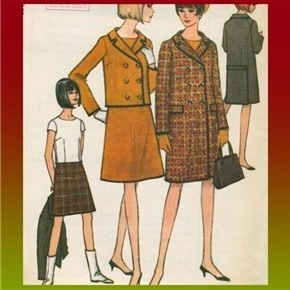 Retro Vintage 60s Coat Jacket Skirt Blouse McCalls Pattern