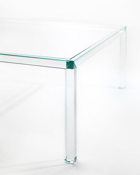 """An """"almost invisible"""" table by Japanese designer Tokujin Yoshioka"""