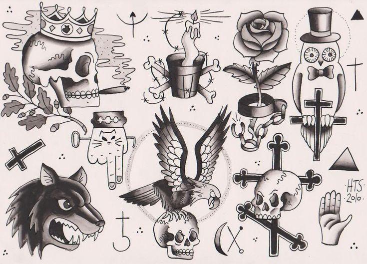 prison tattoo flash like the smoking skull .. kinda ironic