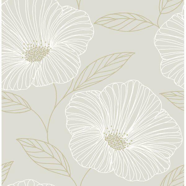 Mythic Floral 10m X 52cm Wallpaper Roll Modern Floral Wallpaper Grey Floral Wallpaper Floral Wallpaper