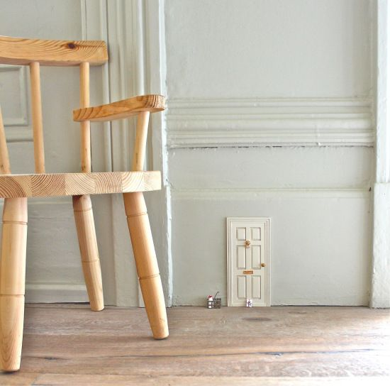 """Super cute.  Creating a door for """"The Barrowers"""" : ) It could creep the tots out though... thinking there are little people living in the house."""