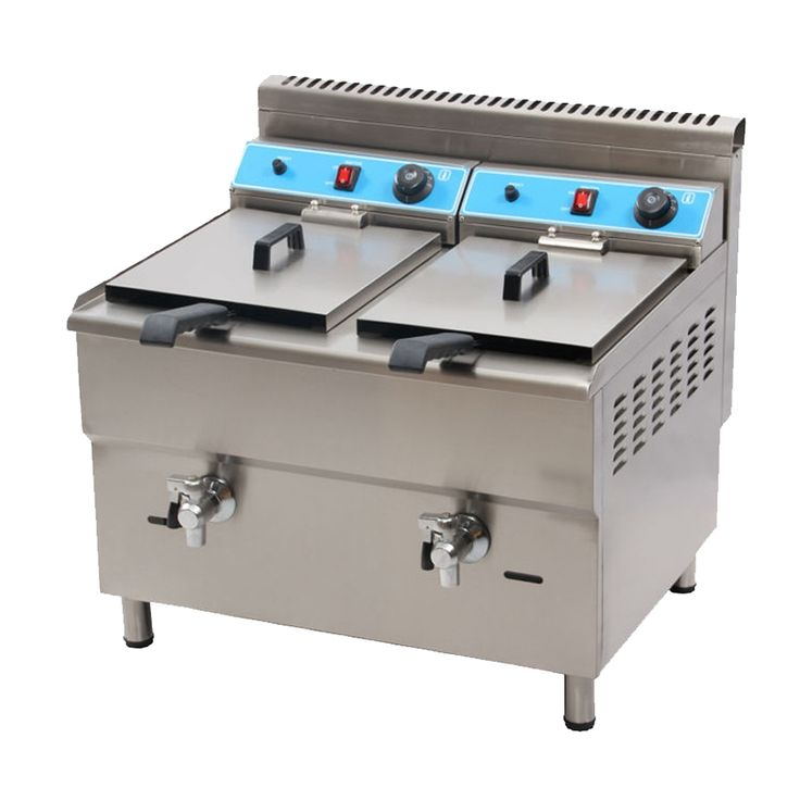 (875.00$)  Watch more here - http://aimpy.worlditems.win/all/product.php?id=32674578337 - MARCHEF 34L Double Tank Professional Kitchen Equipment Double Tanks Gas Industrial Deep Fryer