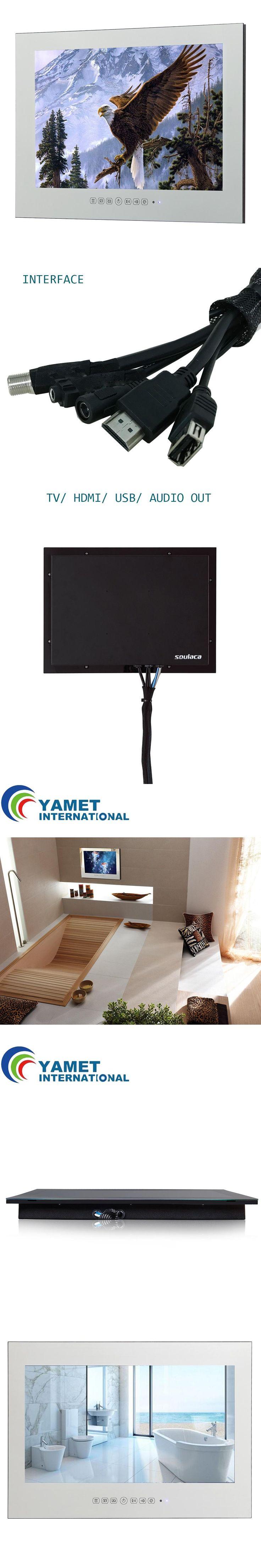 "15.6"" Mirror TV Bathroom Mirror TV Waterproof LED TV with DVB-T FreeView ATSC HDMI USB"