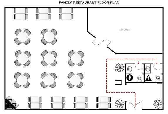 Floor Plan For Theoretical Restaurant