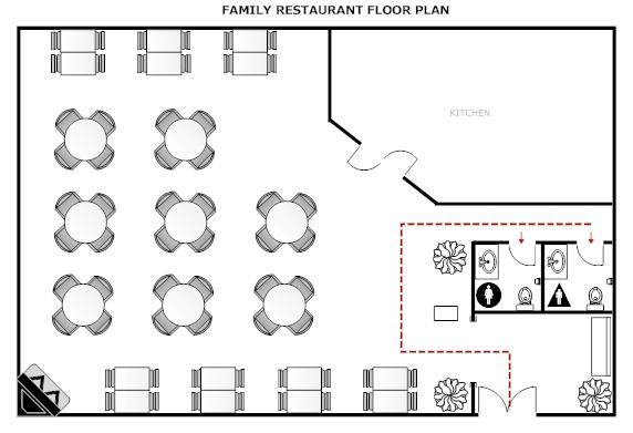 Floor plan for theoretical restaurant restaurant floor for Design your own restaurant floor plan