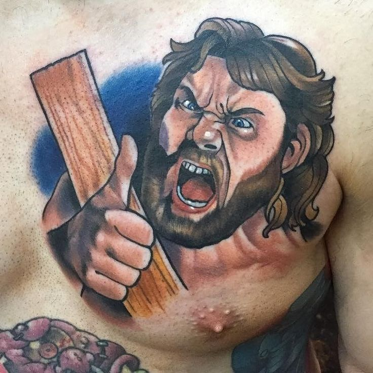 Hacksaw Jim Duggan by @martyrietmcewen at @black13tattoo in Nashville Tennessee. #hacksawjimduggan #jimduggan #wwe #wwf #professionalwrestling #martyrietmcewen #black13tattoo #nashville #tennessee #tattoo #tattoos #tattoosnob