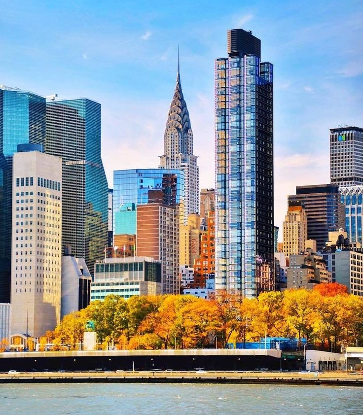Autumn colors across the East River, New York City by @gigi_nyc  New York City Feelings  The Best Photos and Videos of New York City including the Statue of Liberty, Brooklyn Bridge, Central Park, Empire State Building, Chrysler Building and other popular New York places and attractions