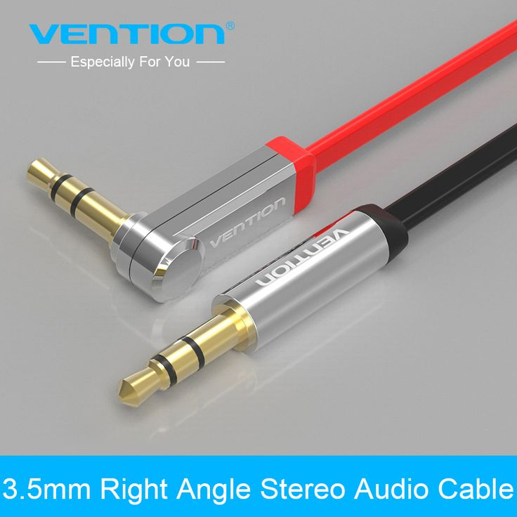 Vention 3.5mm jack Audio Cable male to male Extension Cable 90 Degree Right Angle Flat Aux Cable for Car/Headphone/PM4/PM3