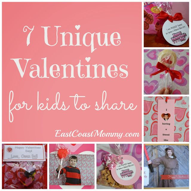 7 Unique Valentine's for kids to share