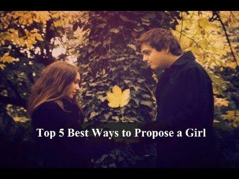 Top 5 Best Ways to Propose a Girl || Top 5 go  1. Be yourself  This is the first rule that you need to get into your mind when you think of proposing a girl. Do not overdo your proposal. Keep it simple yet special and sweet. Listen up fellas if you want to capture your womans heart by a marriage proposal then follow your heart and hers. Be creative and be yourself. Its every girls dream to have a guy propose to her. Be who you are and in your own special way say those three golden words.  2…