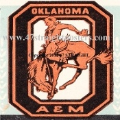 Oklahoma State football ticket coasters, Oklahoma State football gifts. Vintage football art. http://www.vintagefootballart.com/ #art #gifts