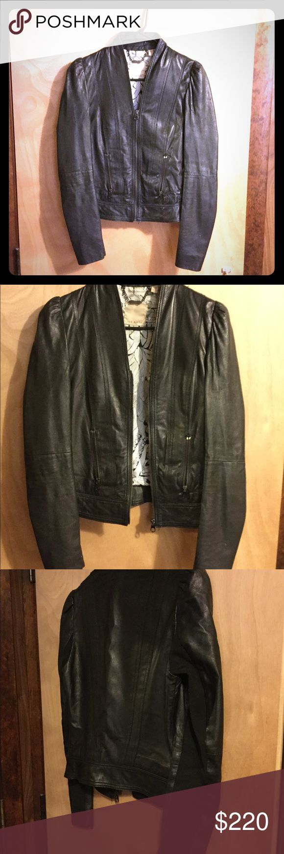 Ted Baker Leather Jacket Gorgeous Ted Baker Leather Jacket in Great Condition Small Tear on Sleeve  Make an Offer! Ted Baker Jackets & Coats