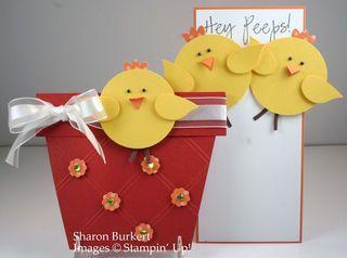 March 16, 2012 Chickens in a Pot - Easter Chix! Bird Builder punch Flowerpot http://www.sharonburkert.com/as_the_ink_dries/2012/03/flowerpot-friday.html