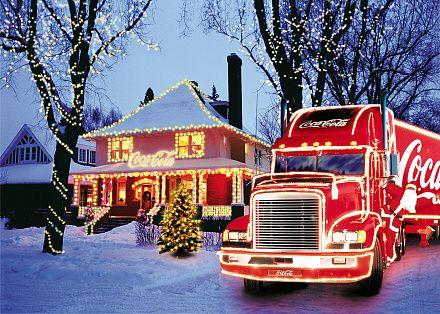 The Coca-Cola Christmas truck!