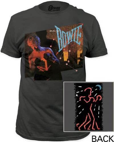 David Bowie Vintage T-shirt - David Bowie Let's Dance Album Cover Artwork   Men'