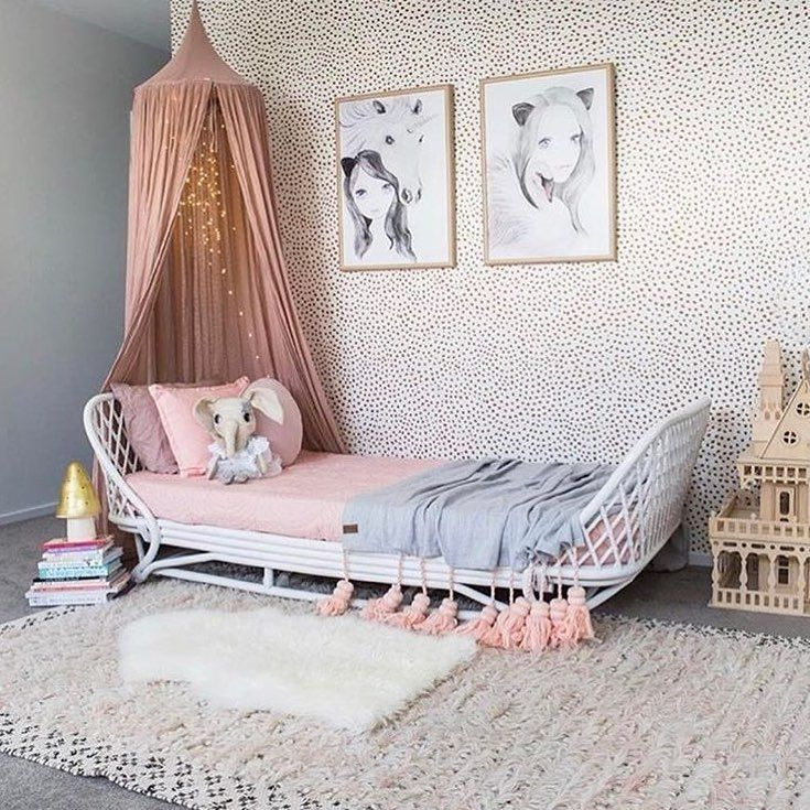 "3 Little Crowns on Instagram: ""This is one dreamy room @petiteinteriorco has created for @littleraeprints featuring our beautiful Bonne Mère quilt set We have a very…"""
