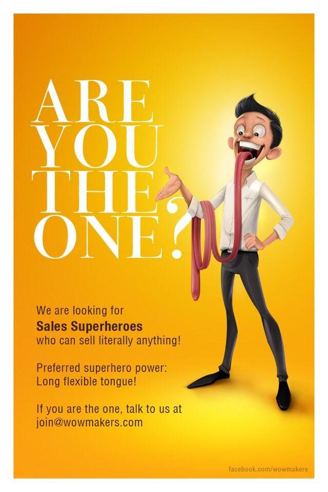 """So are you really the one?   A creative recruitment #advertisement for a sales position by @wowmakers"""