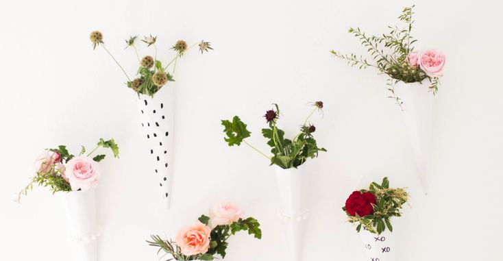 With paper, paint and fresh flowers, you can whip up perfect décor pieces to hang on your wall, use as a photo backdrop or just to bring some life to a room that lacks pizazz. Click in to see Style Me Pretty's DIY floral wall sconces tutorial and start crafting your next piece of wonderful wall art.