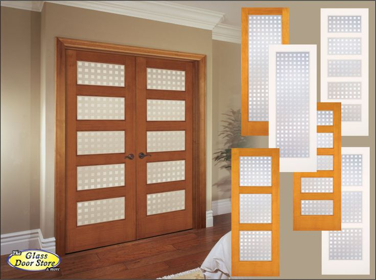 High Quality Privacy Interior Doors With Options For The Number Of Glass Panels. Square  Pattern In The