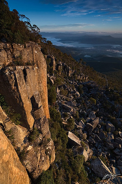 Fabulous, chilly, Mt Wellington in Hobart, Tasmania