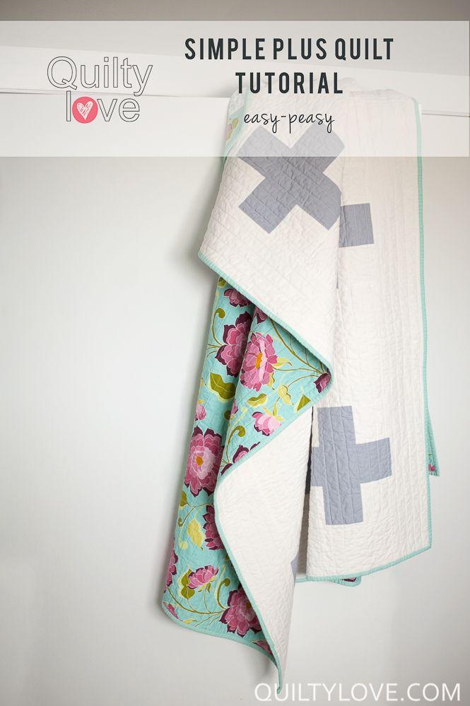 Simple Plus Quilt (with tutorial)