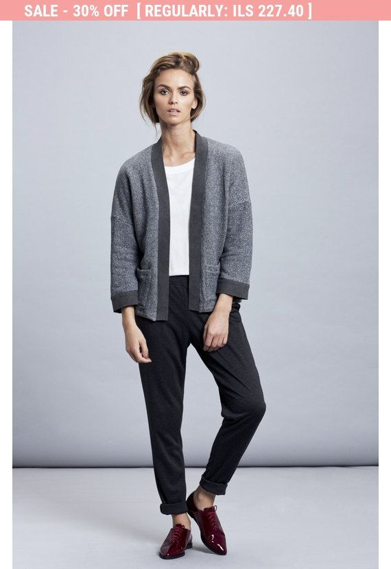 VERKOOP 40% grijs jasje kort grijs Jack, kimono jas, trui vest, sportieve jas, vrouwen jas, vrouwen Blazer, oversized jas, Kimono trui