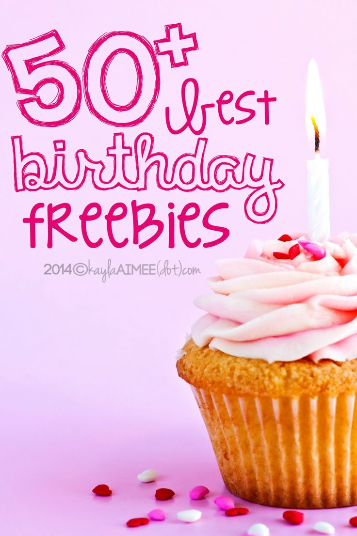 A list of 50+ Best Birthday Freebies from restaurants & retail stores (so you can party like it's your birthday...for free!)