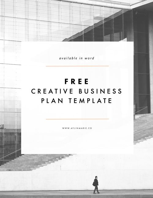 Freebie Creative Business Plan Template  Business Planning