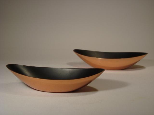 Ystad-Metall Gunnar Ander. Enamelled copper bowls.
