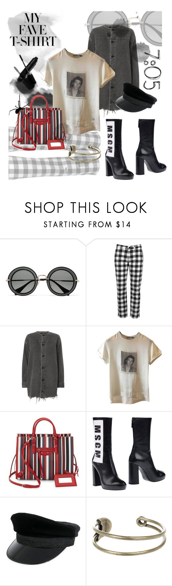 """""""MY FAVE T-SHIRT /// Easy Come Easy Go"""" by madtrr ❤ liked on Polyvore featuring Miu Miu, Victoria, Victoria Beckham, Garance Doré, Alexander Wang, Dolce&Gabbana, Balenciaga, MSGM, Manokhi and Diesel"""