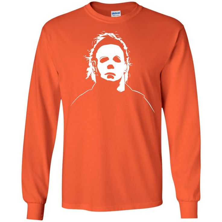 Jacted Up Tees Michael Myers Halloween Movie Mask Men's T-Shirt SHIPS FROM OHIO USA-01 G240 Gildan LS Ultra Cotton T-Shirt