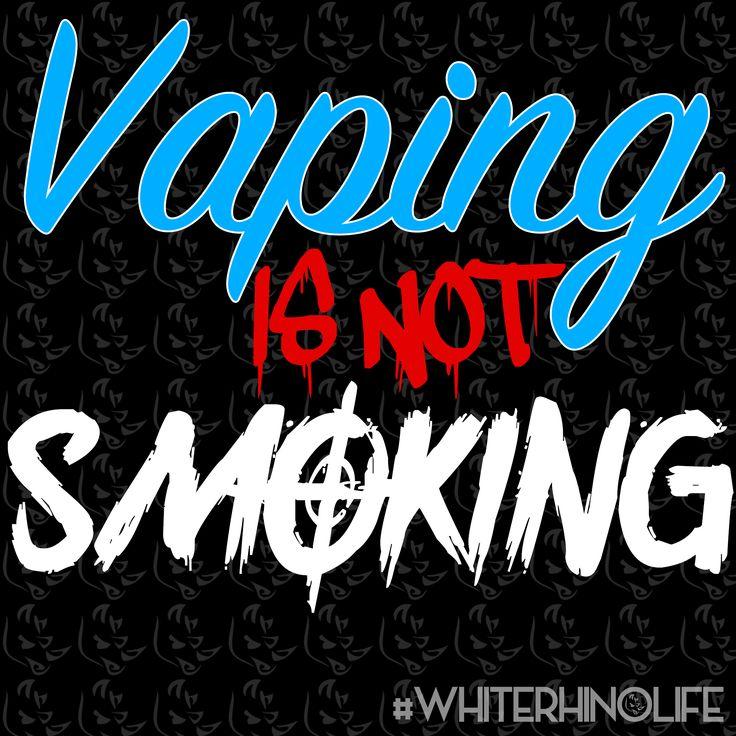 #vaping is not #smoking