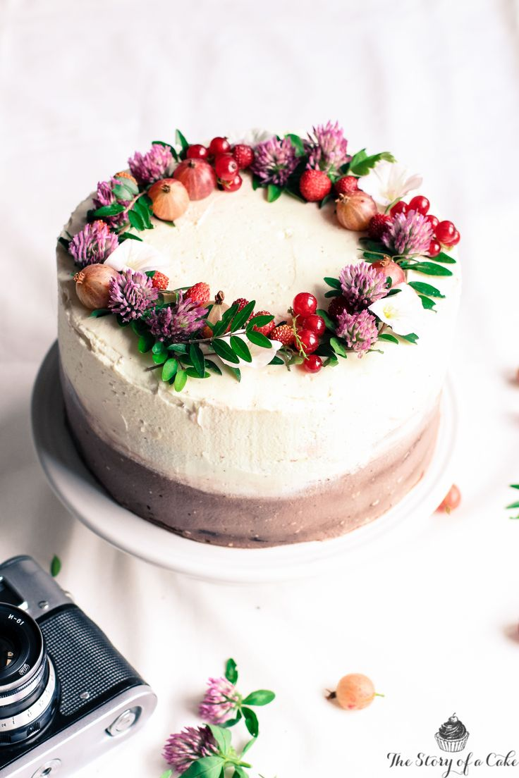 black white chocolate summer cake