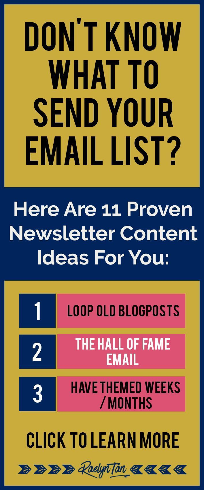What to send your subscribers: Here are 11 newsletter content ideas that are absolutely amazing! Get your subscribers engaged and uplevel your email marketing for your blog + business.