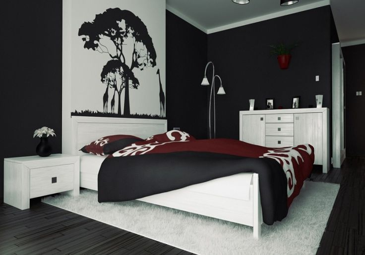 Black Wall Bedroom Interior Design Bedroom Ideas Pinterest