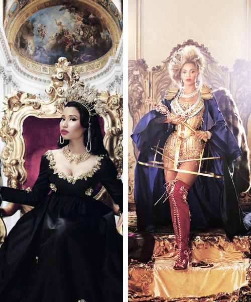 """ ""The Queen of Rap, slaying with Queen Bey!"" "" oh my god this photoset"