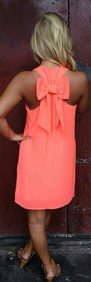 i love this neon coral dress