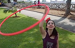 Funnel Jump Through with Rebecca Victoria   hooping.org