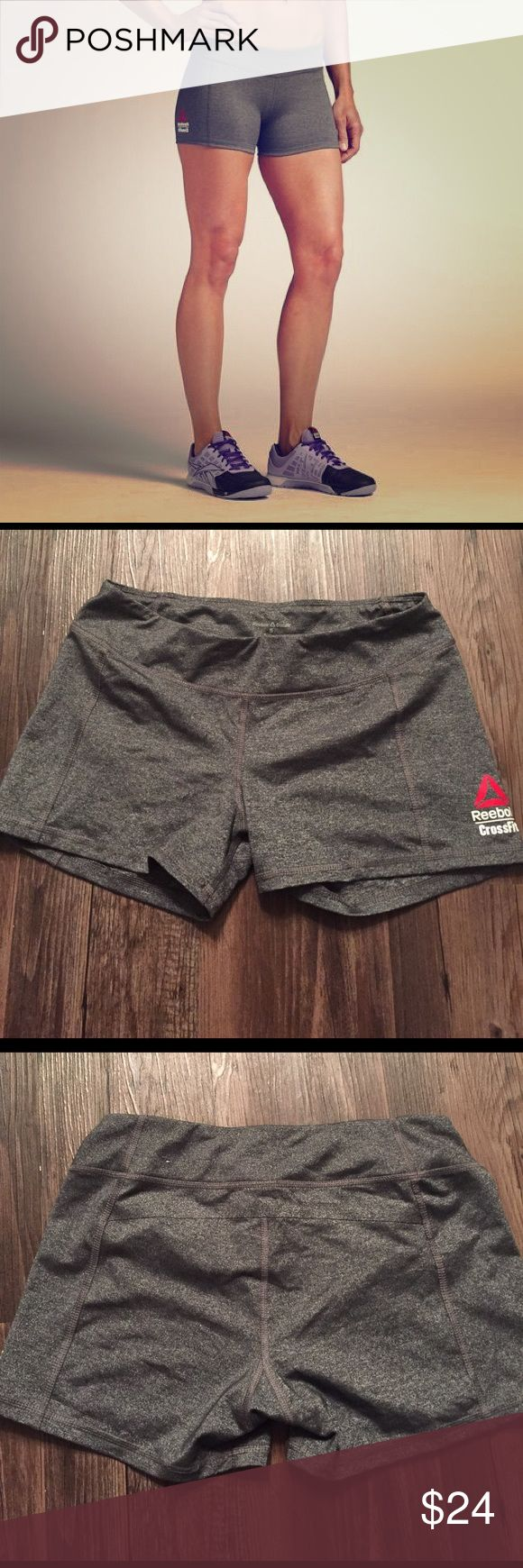 Reebok CrossFit Chase Bootie Short - Dark Heather Reebok CrossFit Chase Bootie Short - Dark Heather Gray - Size Small - Worn a handful of times, in excellent condition Reebok Shorts