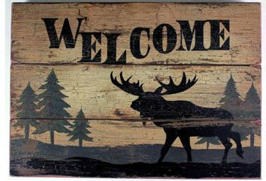 Moose lovers, here is an awesome wood plaque for your cottage decor.