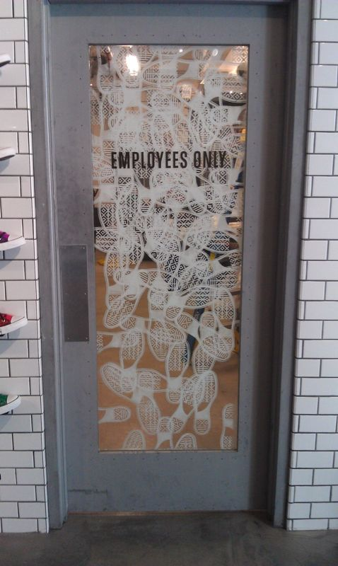 Superb Door Graphics For @Converse Store In San Francisco