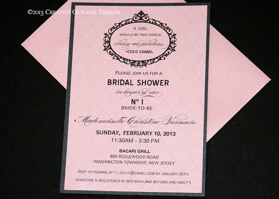 Chanel bridal shower invitations red 17 best ideas about chanel bridal shower on pinterest filmwisefo