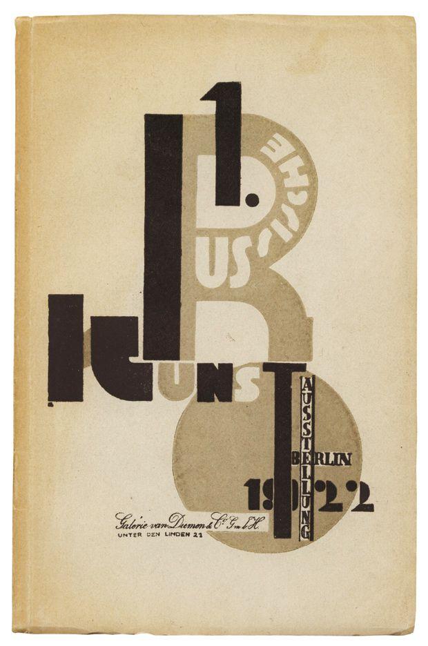 """""""Erste russische Kunstausstellung, Berlin 1922"""". Galerie van Diemen & Co., Berlin: Verlag Internationale Arbeiterhilfe, 1922. Jacket illustration by El Lissitzky. © TASCHEN"""
