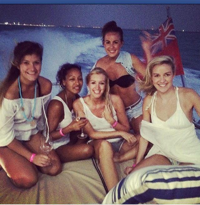 Girls on board...