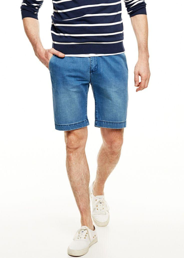 Dark denim bermuda shorts #menswear #SS14 #shorts #menstyle