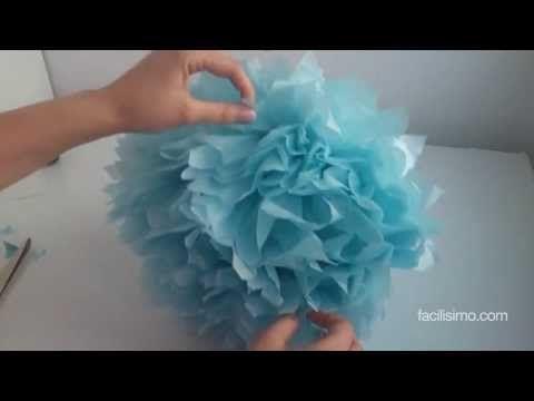 Cómo hacer un pompón de papel para cumpleaños | facilisimo.com - YouTube