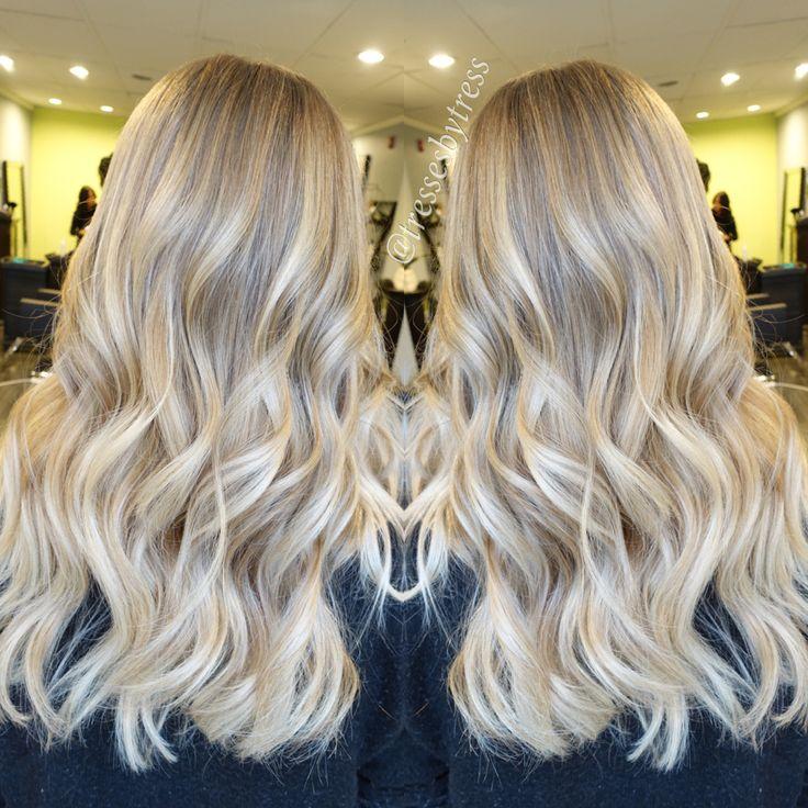 Platinum blonde balayage                                                                                                                                                                                 More